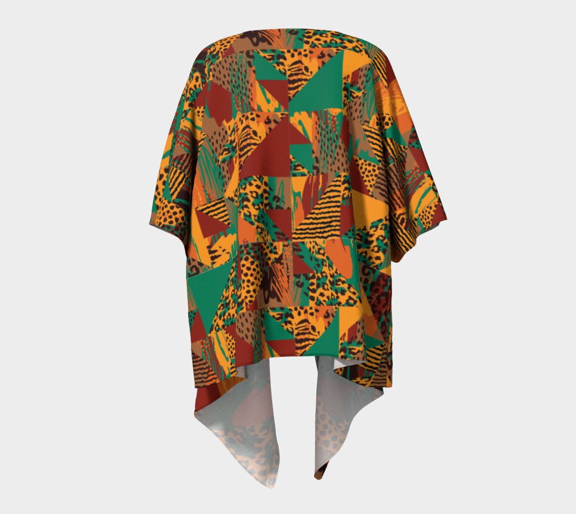 Abstract Safari Print Draped Kimono preview #4