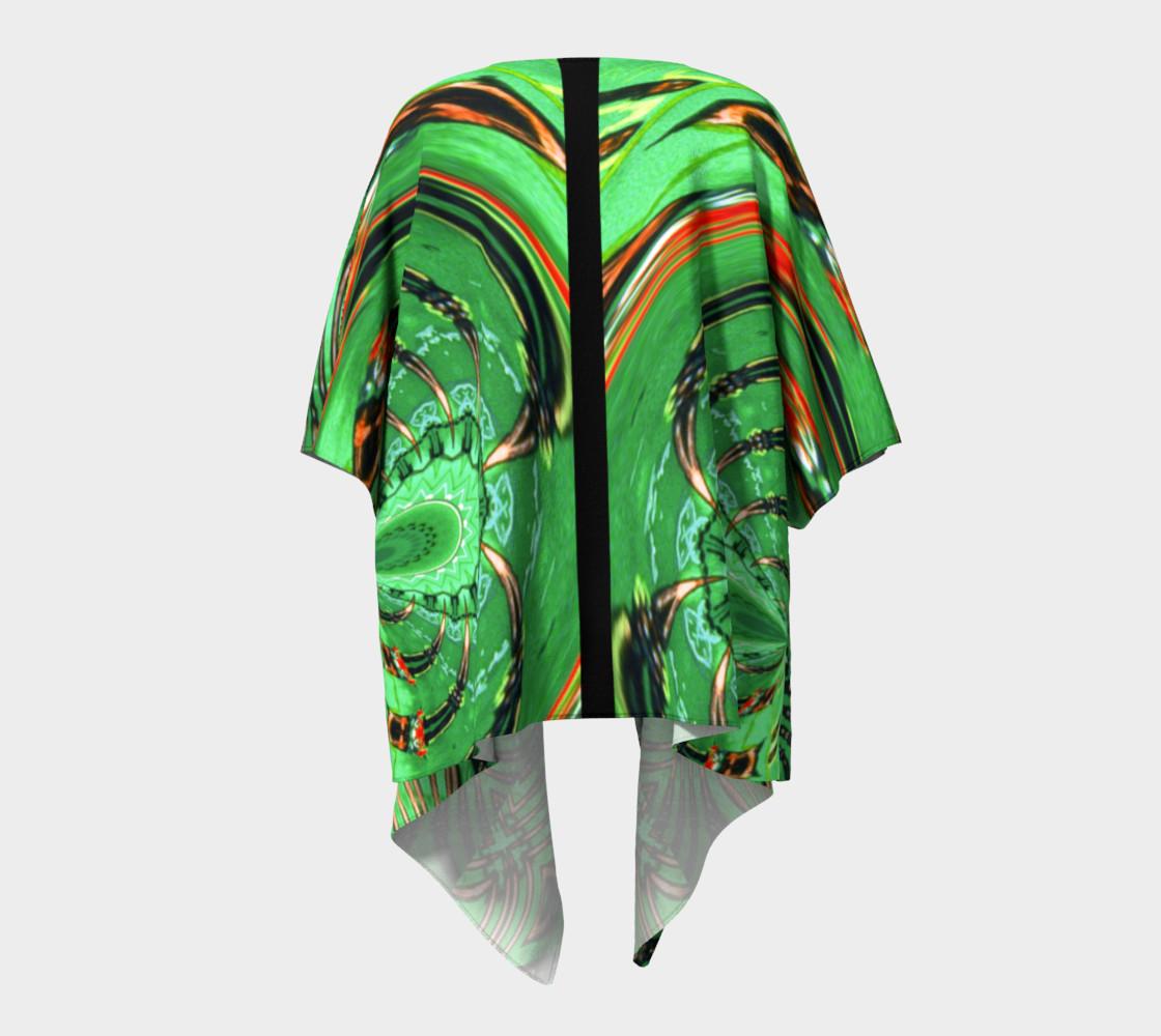 Aperçu de Emerald City Girl Draped Kimono #4