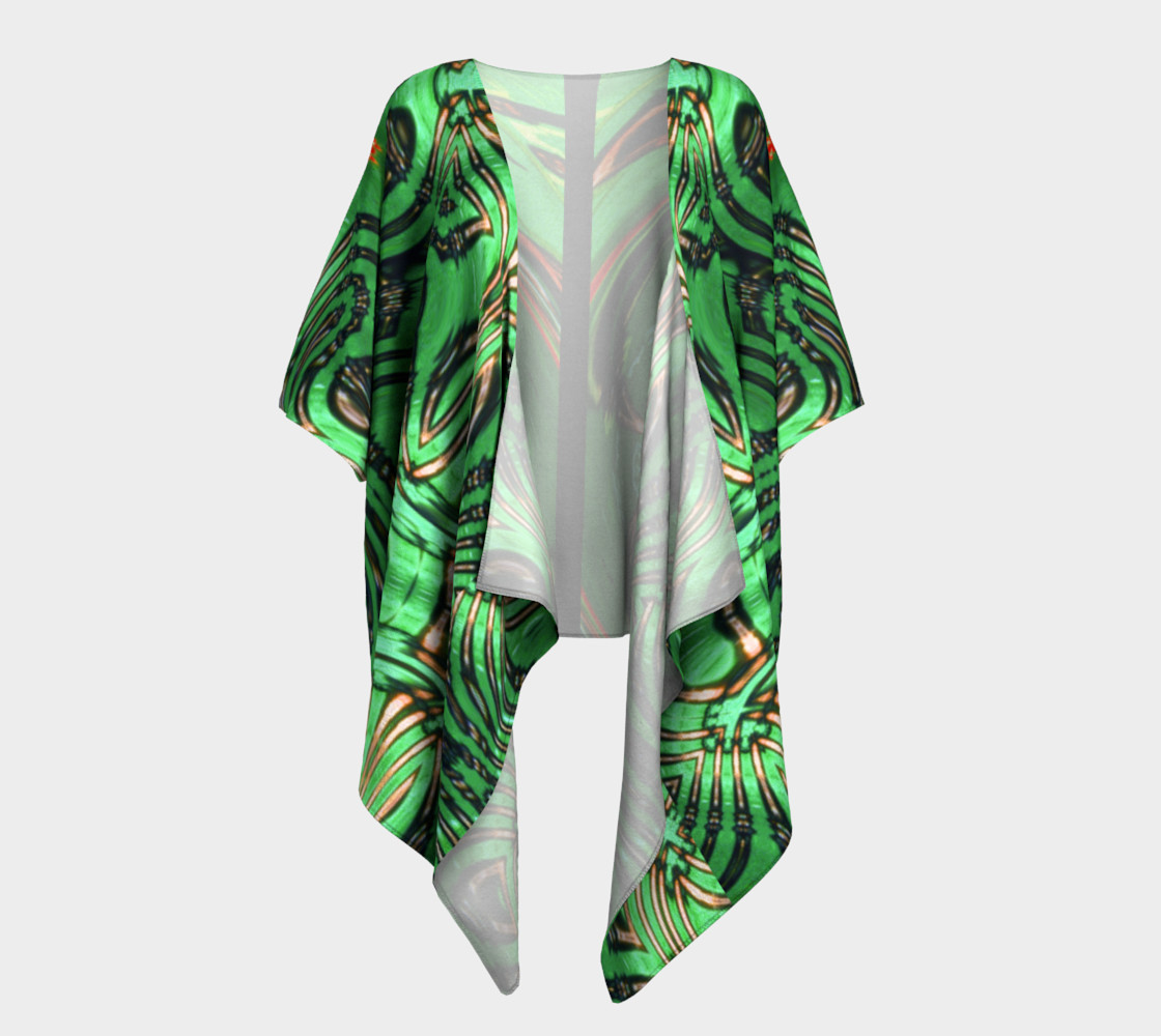 Aperçu de Emerald City Girl Draped Kimono #1