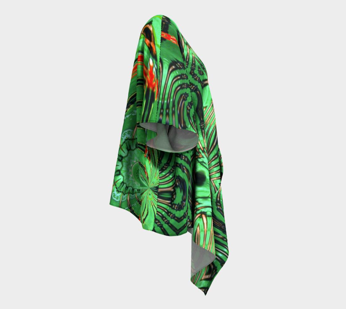 Aperçu de Emerald City Girl Draped Kimono #3