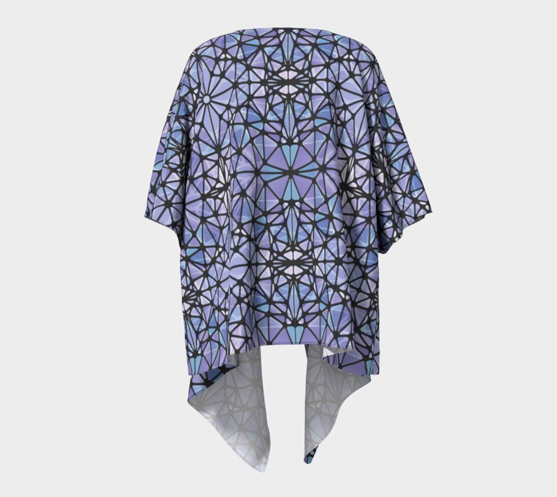 Purple and Blue Kaleidoscope Draped Kimono preview #4