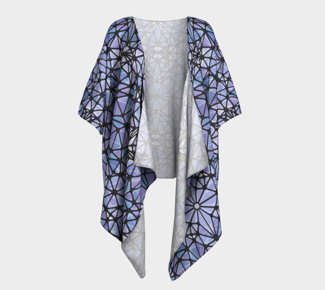 Purple and Blue Kaleidoscope Draped Kimono preview #1