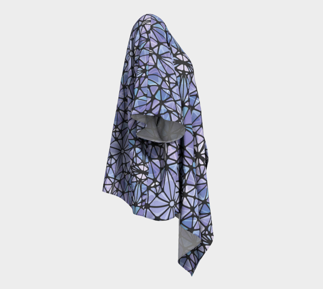 Purple and Blue Kaleidoscope Draped Kimono preview #3
