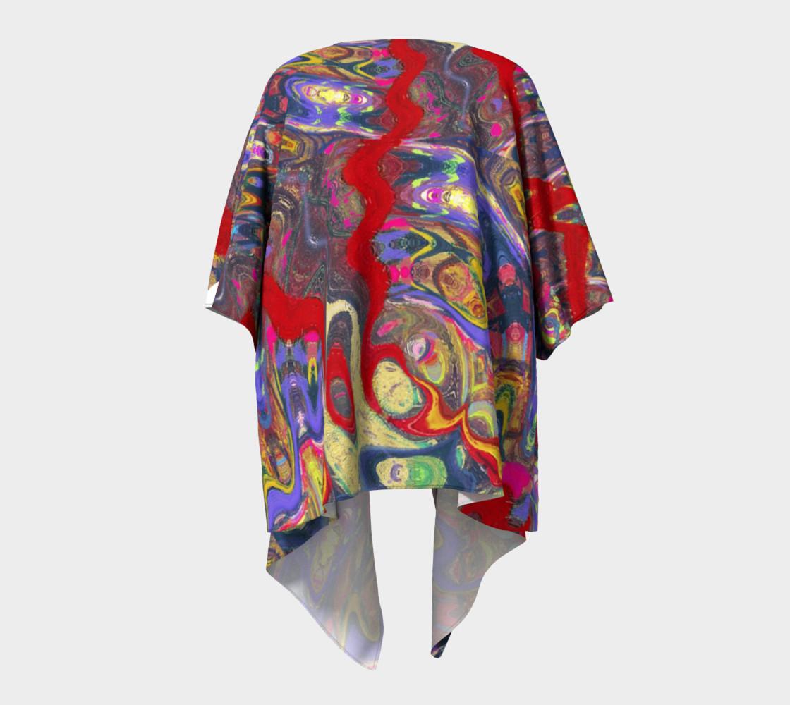 Roller Coaster Circus Pinball-Print Draped Kimono preview #4