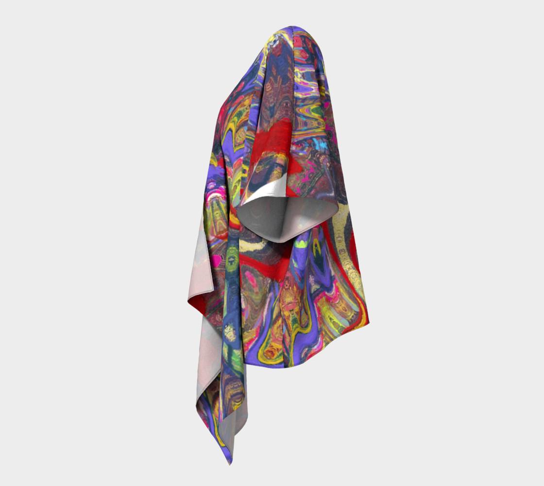Roller Coaster Circus Pinball-Print Draped Kimono preview #2