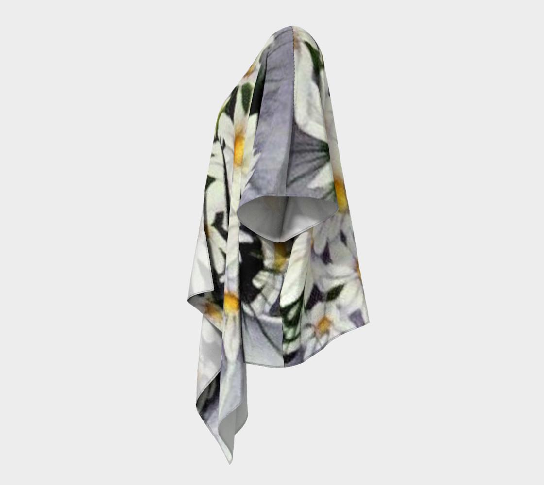 White Daisy Bouquet Draped Kimono preview #2