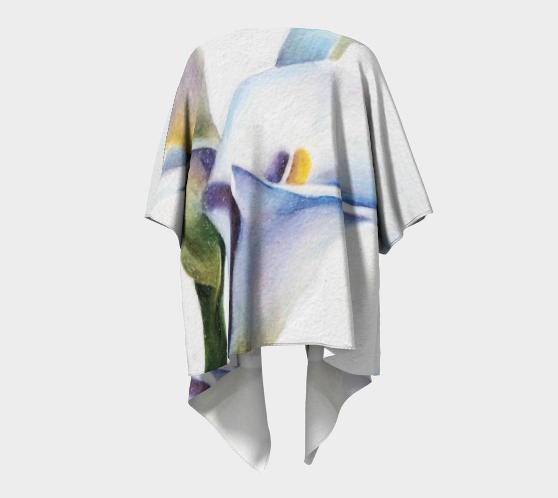 White Calla Lilies Draped Kimono preview #4