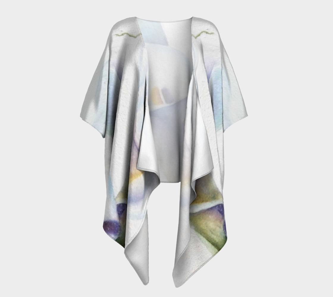White Calla Lilies Draped Kimono preview #1