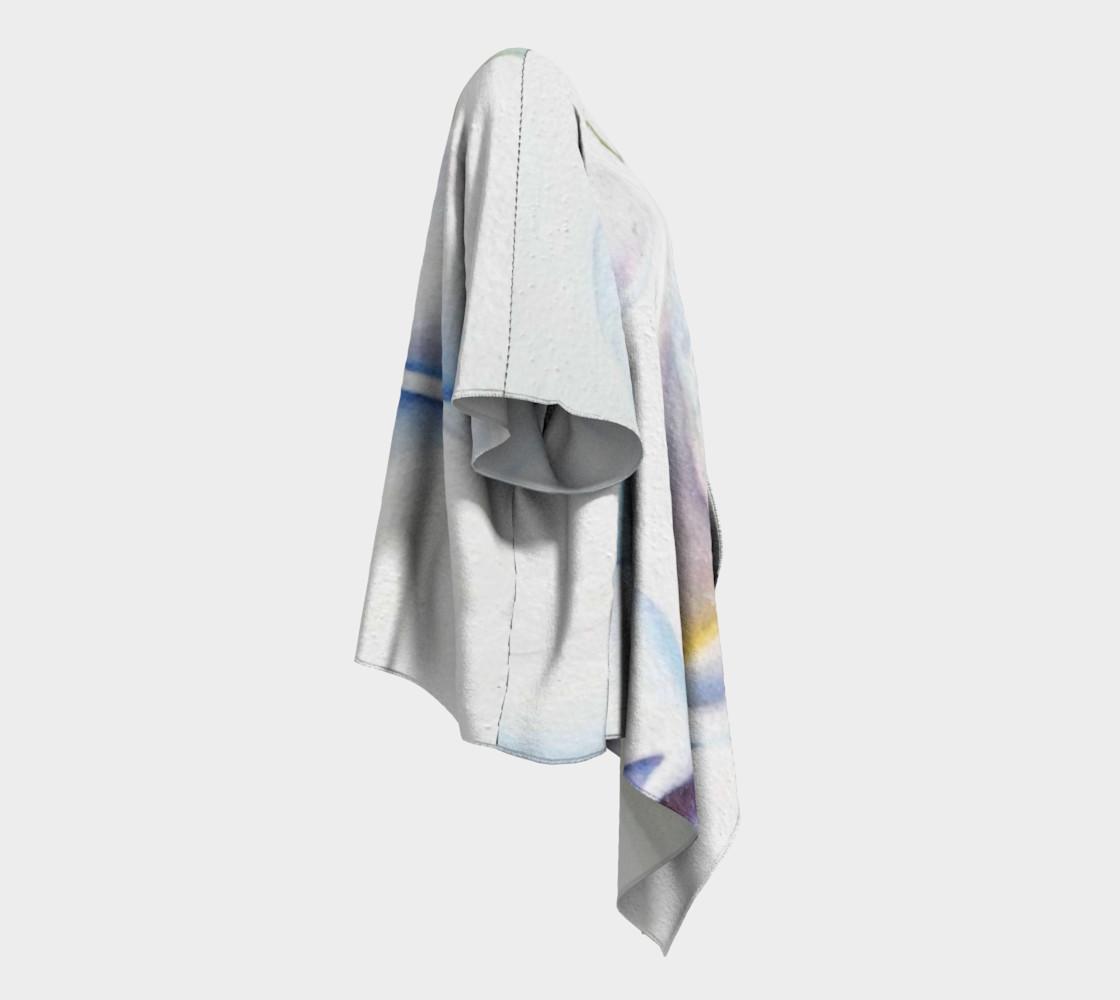 White Calla Lilies Draped Kimono preview #3