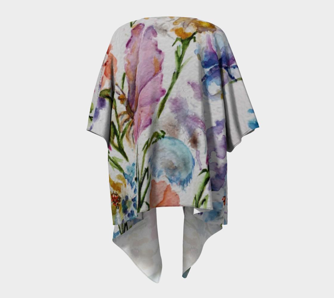 Whimsical Flowers Draped Kimono preview #4