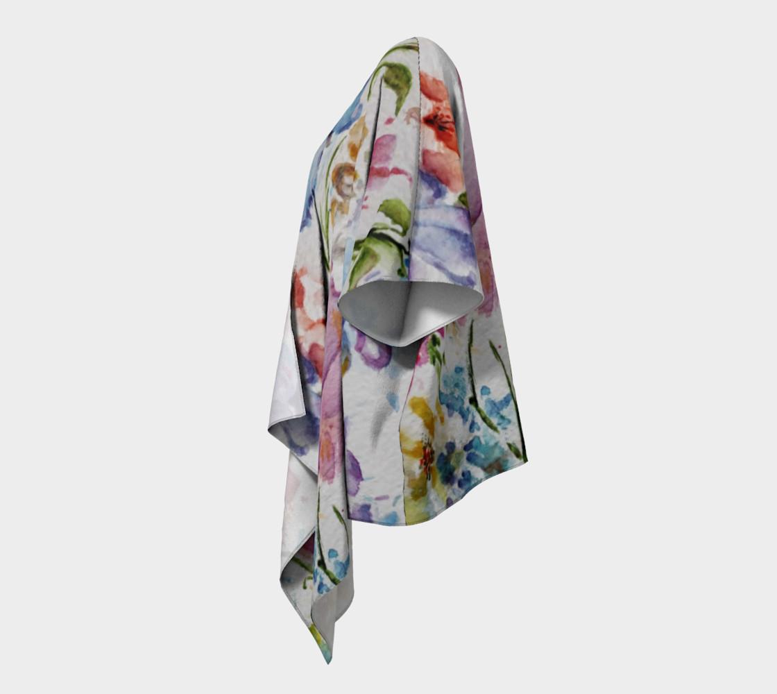 Whimsical Flowers Draped Kimono preview #2