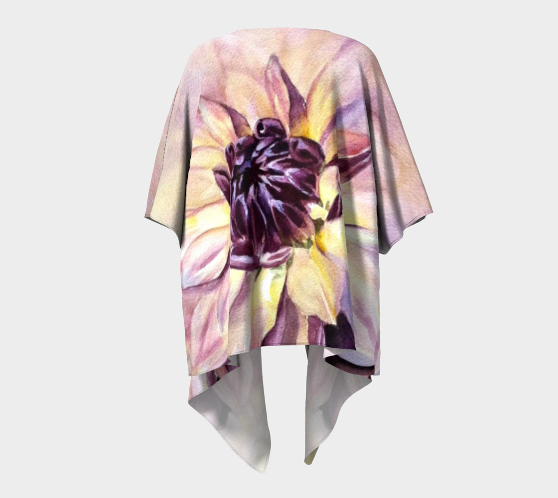 Dahlia Flower Draped Kimono preview #4