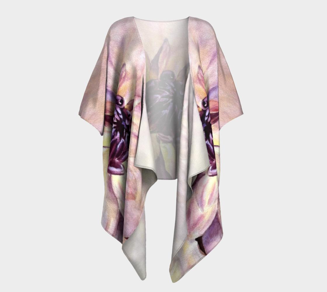 Dahlia Flower Draped Kimono preview #1