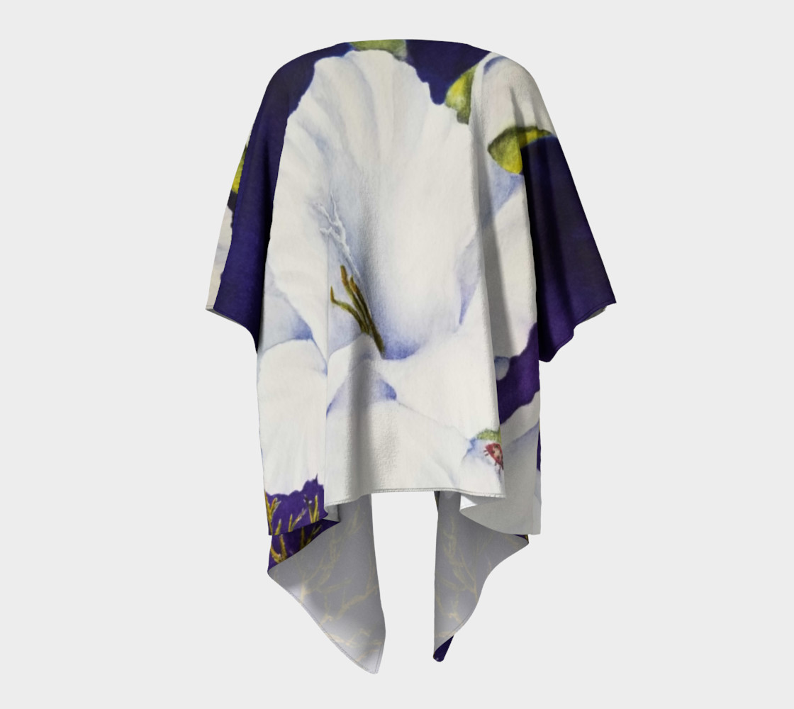 White Gladiola Draped Kimono preview #4