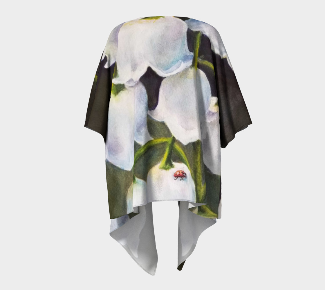 Lily of the Valley Draped Kimono preview #4