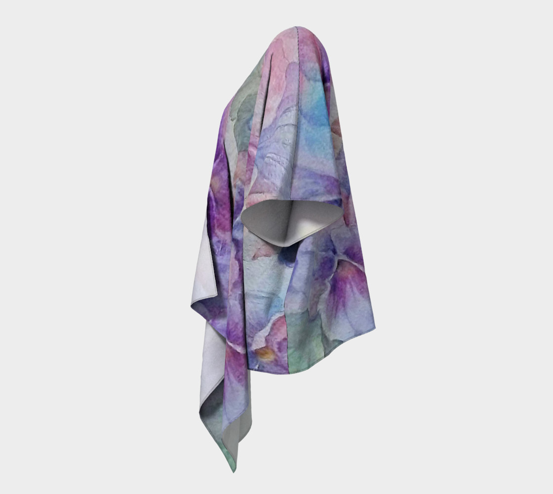 Purple Pansy Party Draped Kimono preview #2