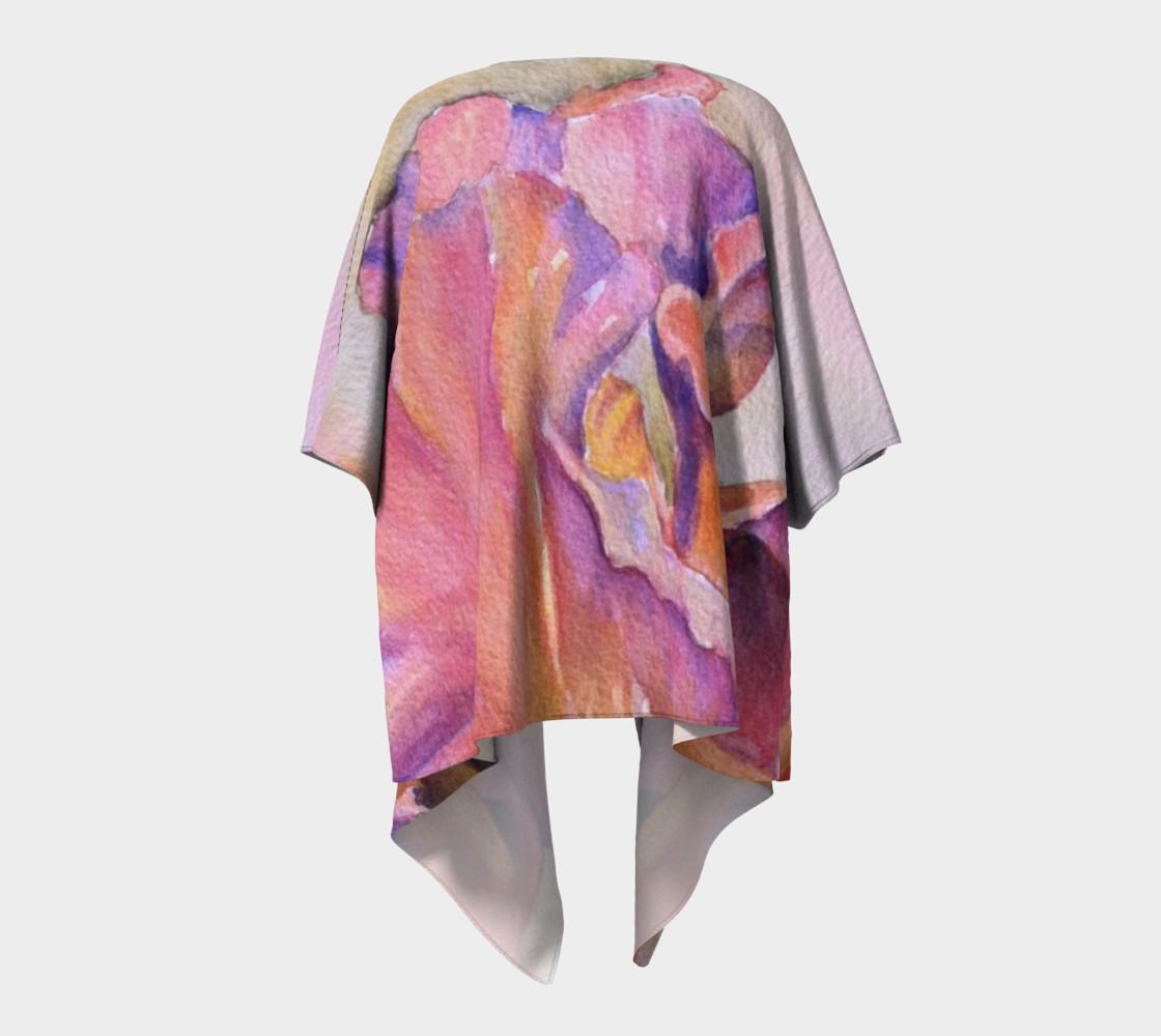Pink Iris Draped Kimono preview #4