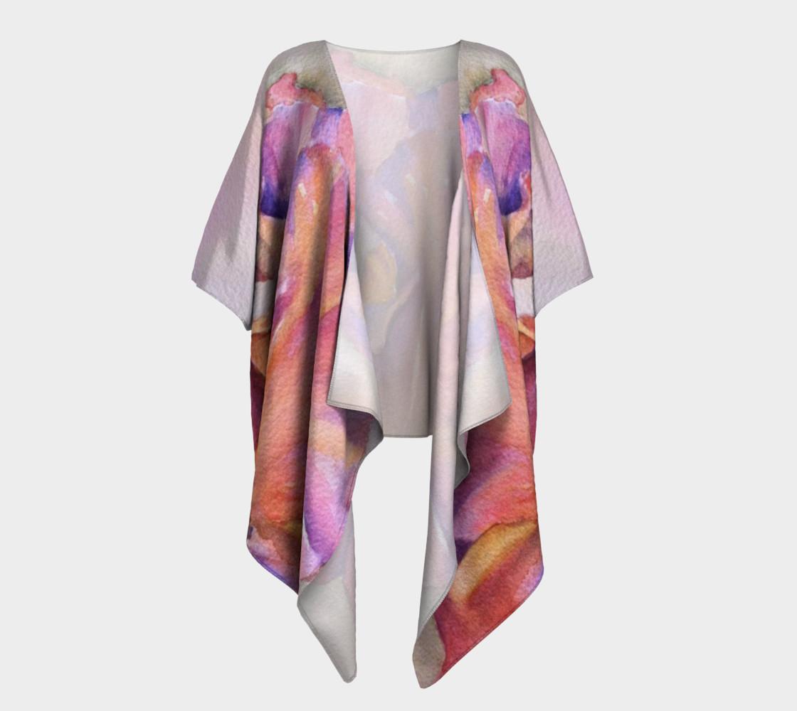 Pink Iris Draped Kimono preview #1