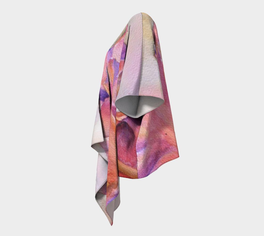 Pink Iris Draped Kimono preview #2