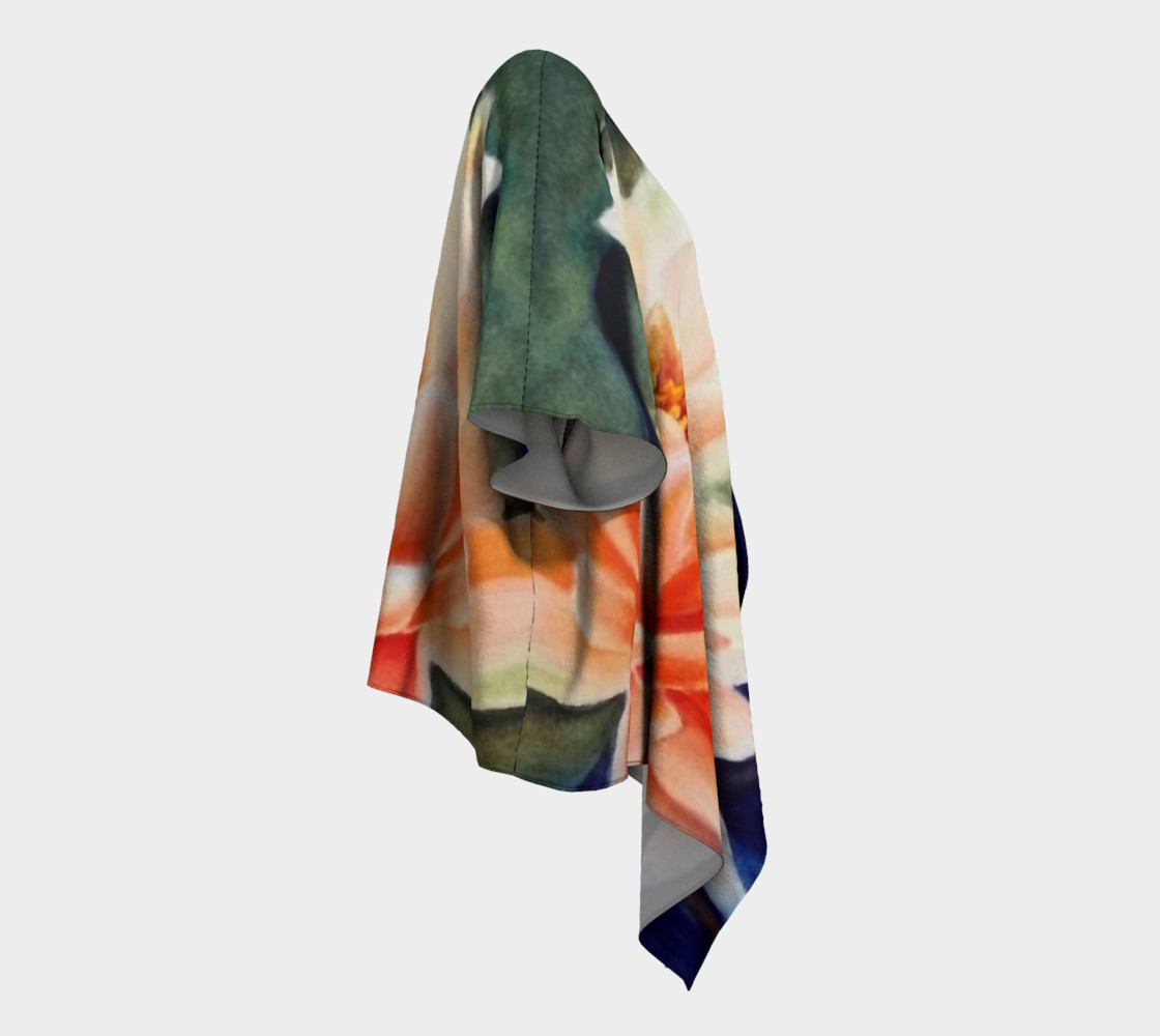 Orange Waterlily Draped Kimono preview #3