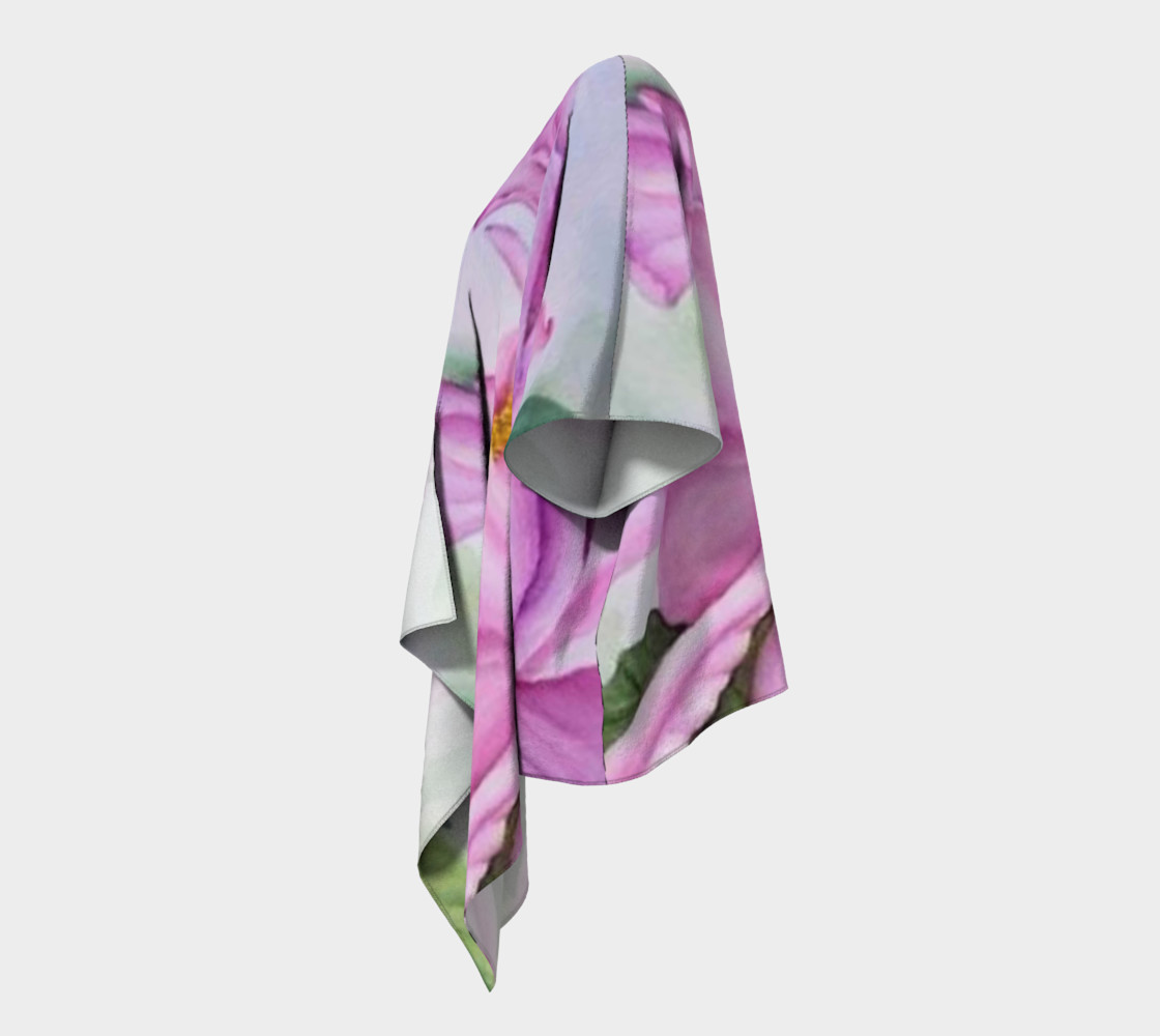 Tropical Pink Orchid Draped Kimono preview #2