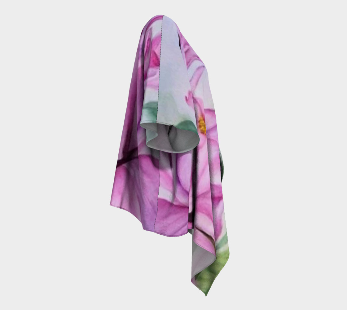 Tropical Pink Orchid Draped Kimono preview #3