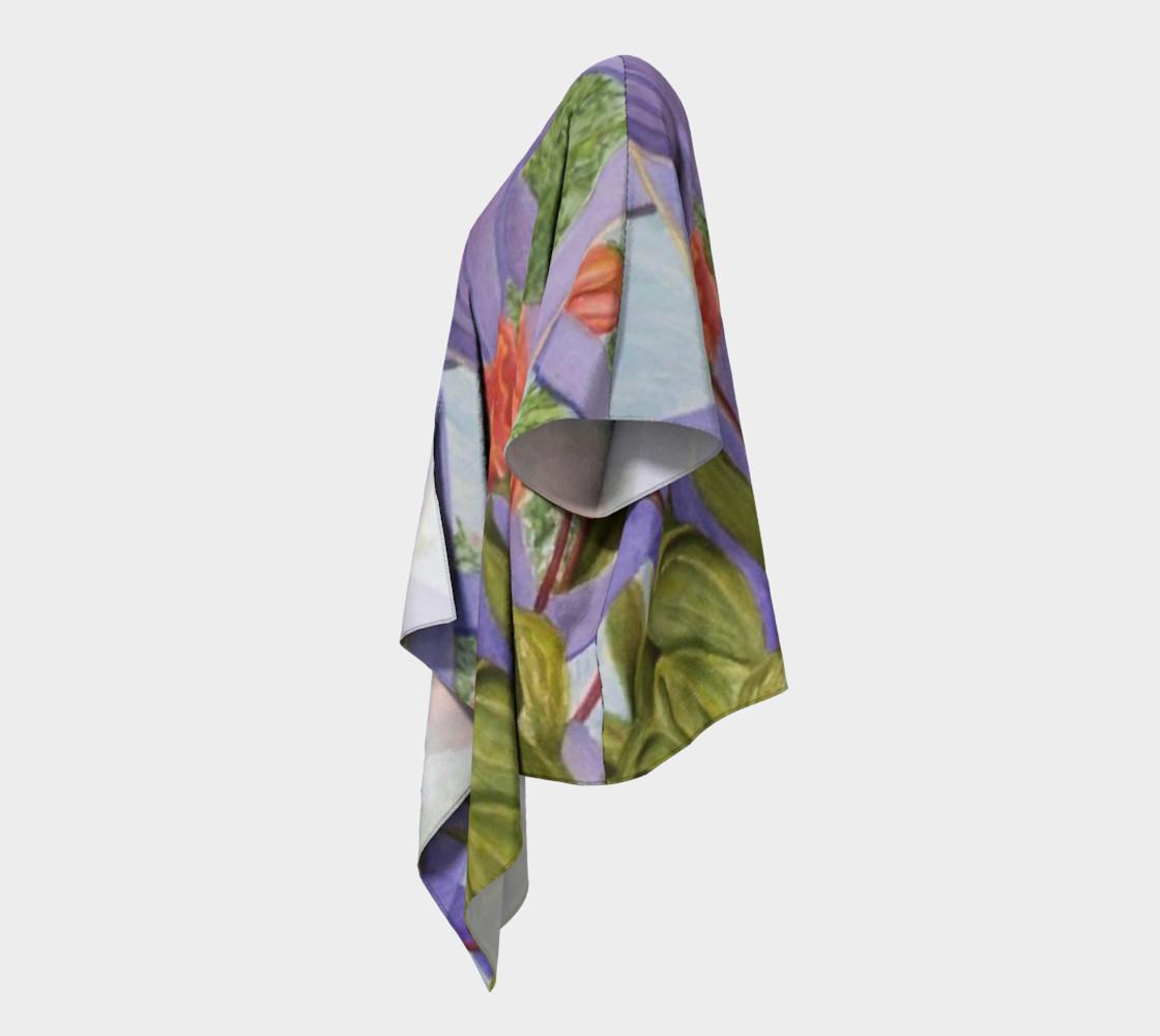 Orange Tulip Bouquet Draped Kimono preview #2