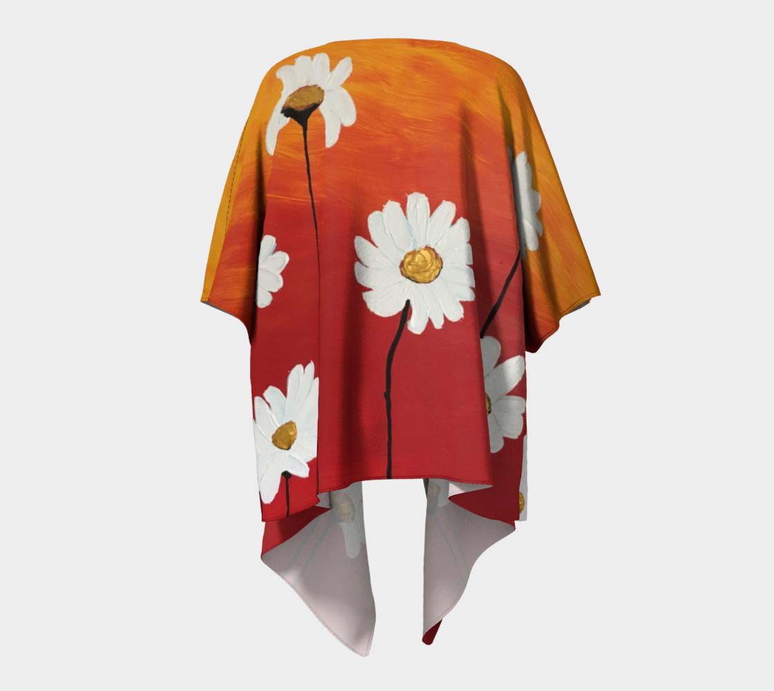 Daisy Sunset Draped Kimono preview #4