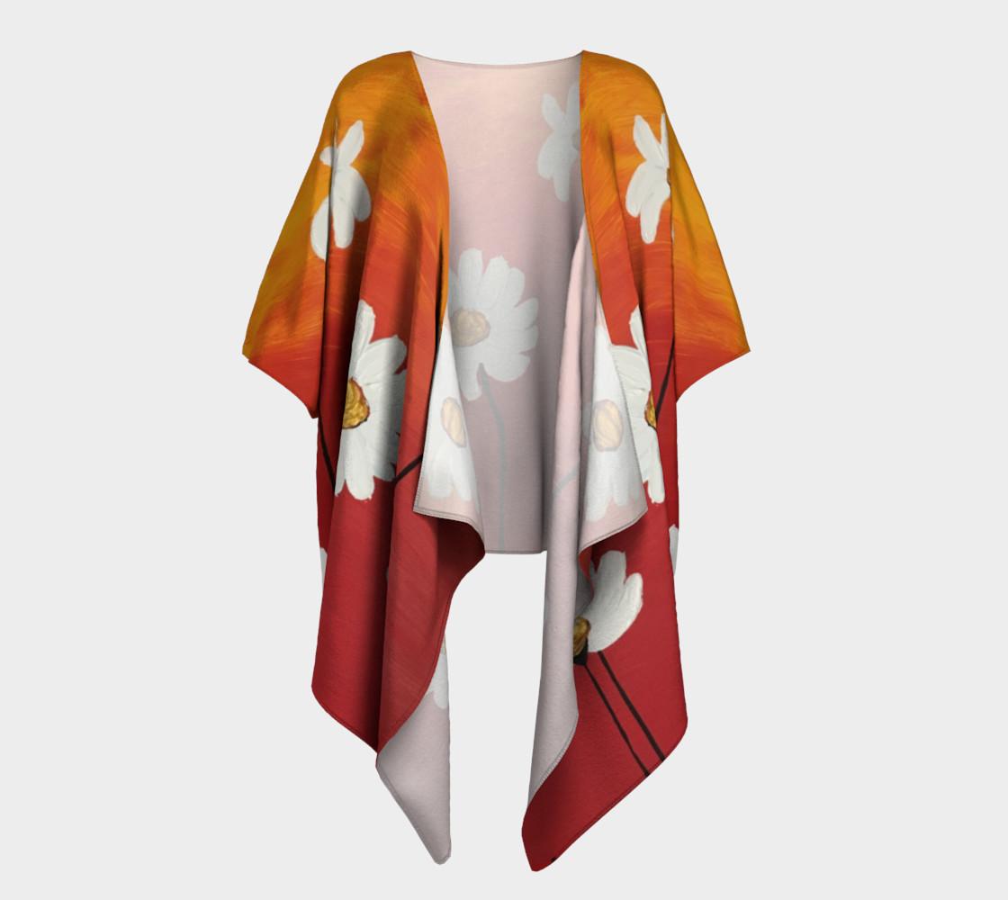 Daisy Sunset Draped Kimono preview #1