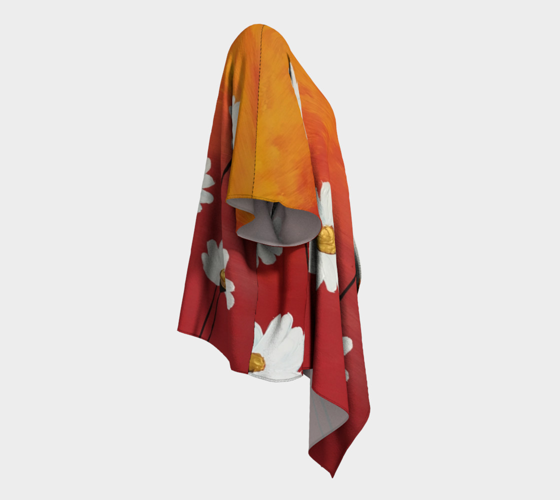 Daisy Sunset Draped Kimono preview #3