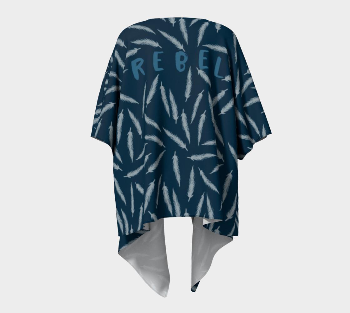 Rebel Draped Kimono in Navy preview #4