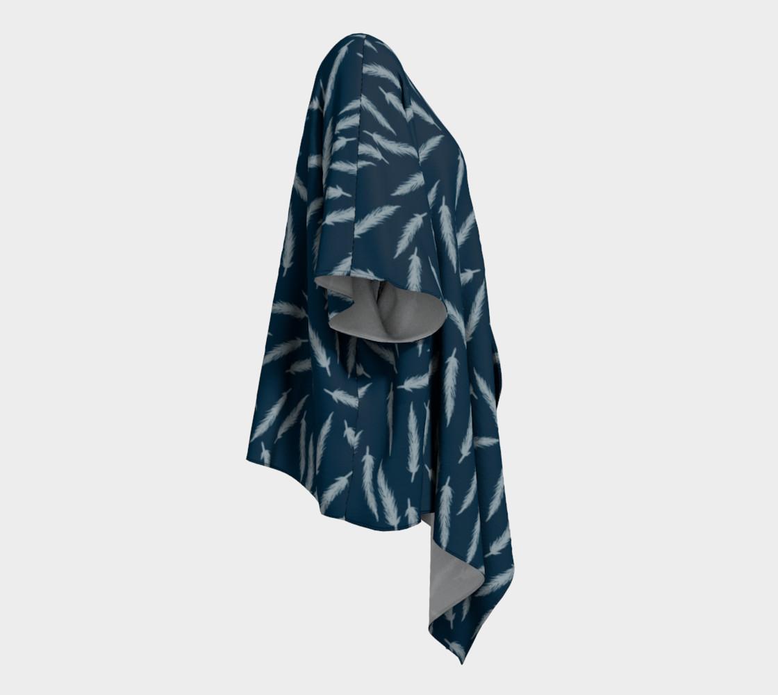 Rebel Draped Kimono in Navy preview #3