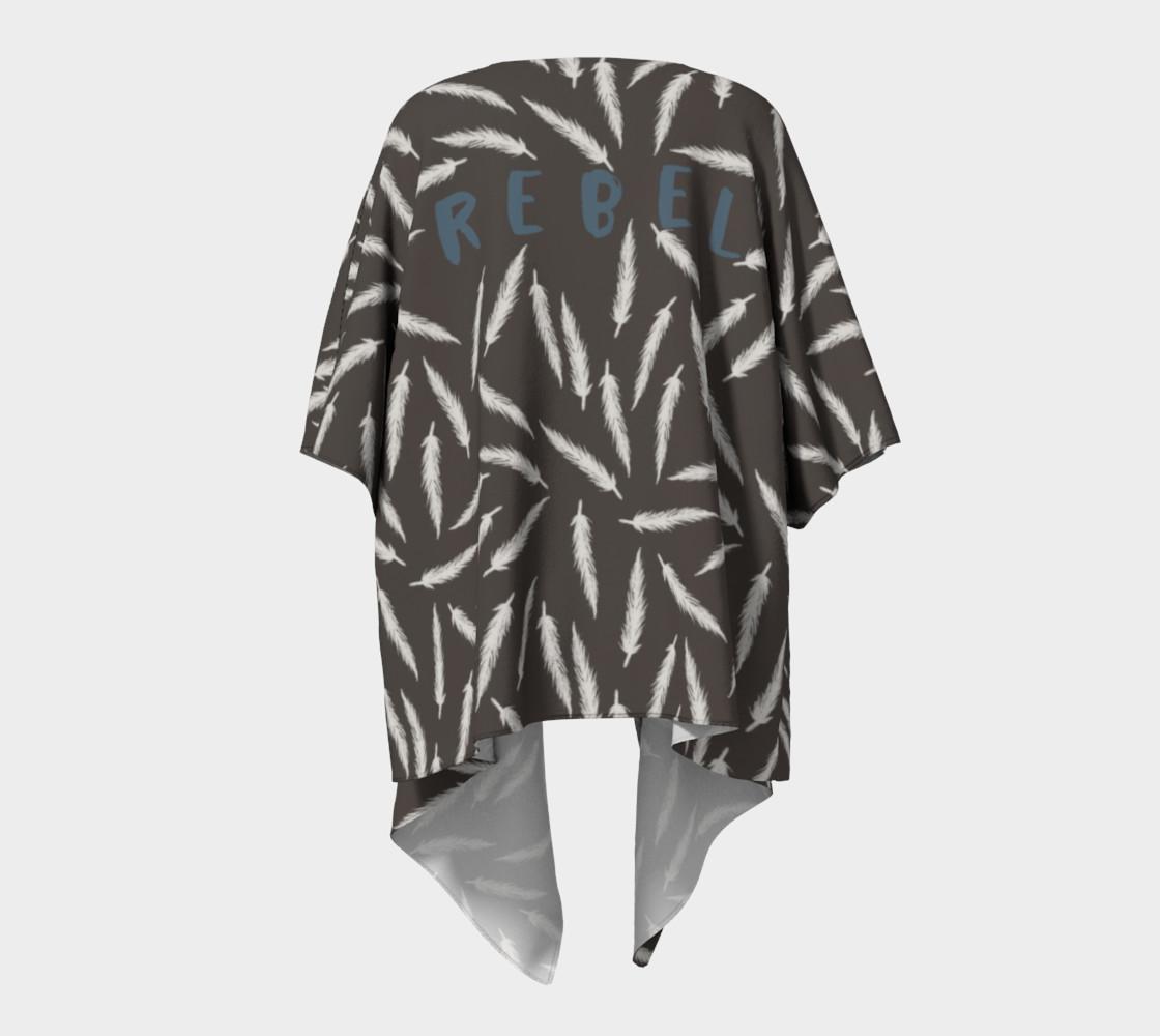 Rebel Draped Kimono in Coal preview #4