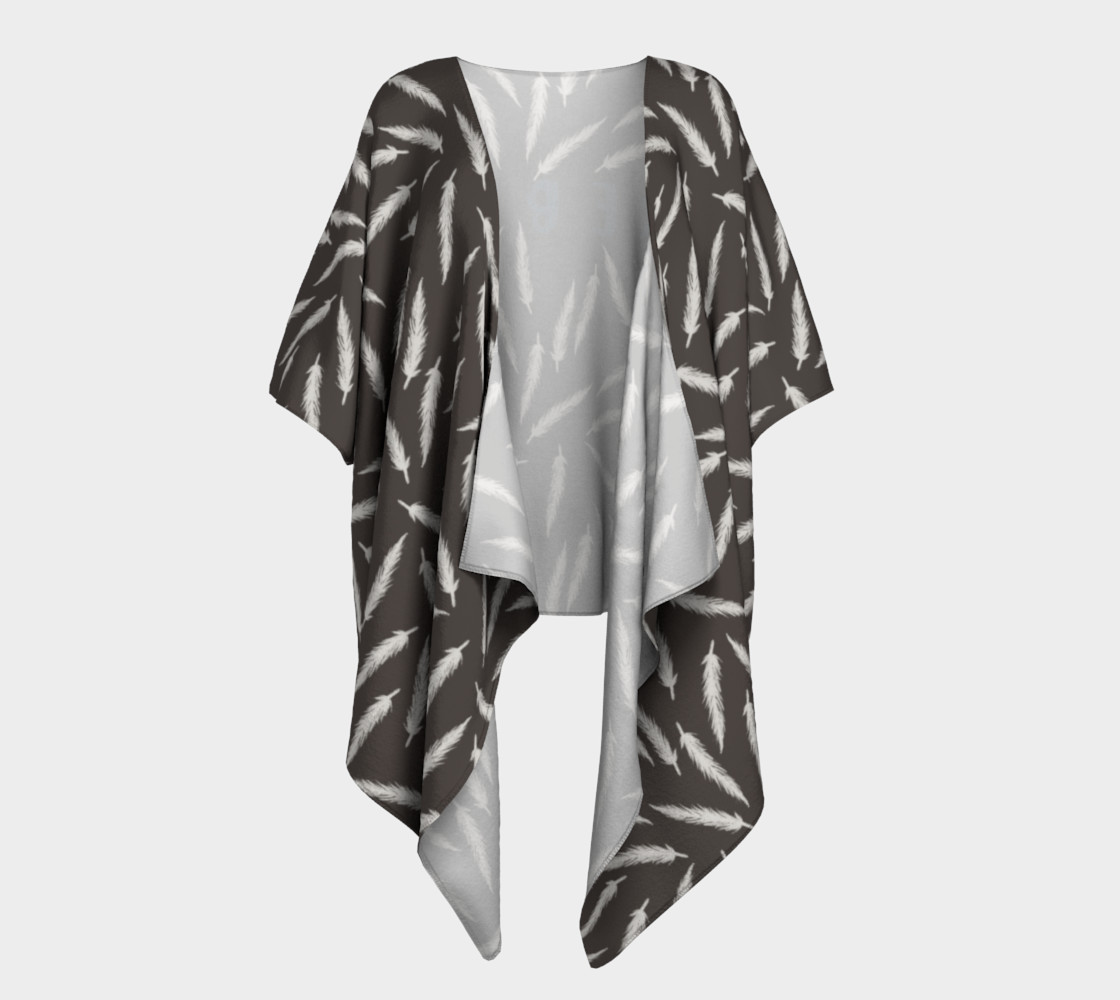 Rebel Draped Kimono in Coal preview #1