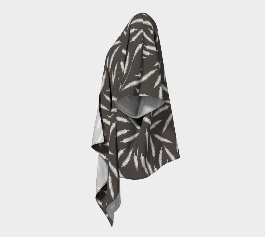 Rebel Draped Kimono in Coal preview #2
