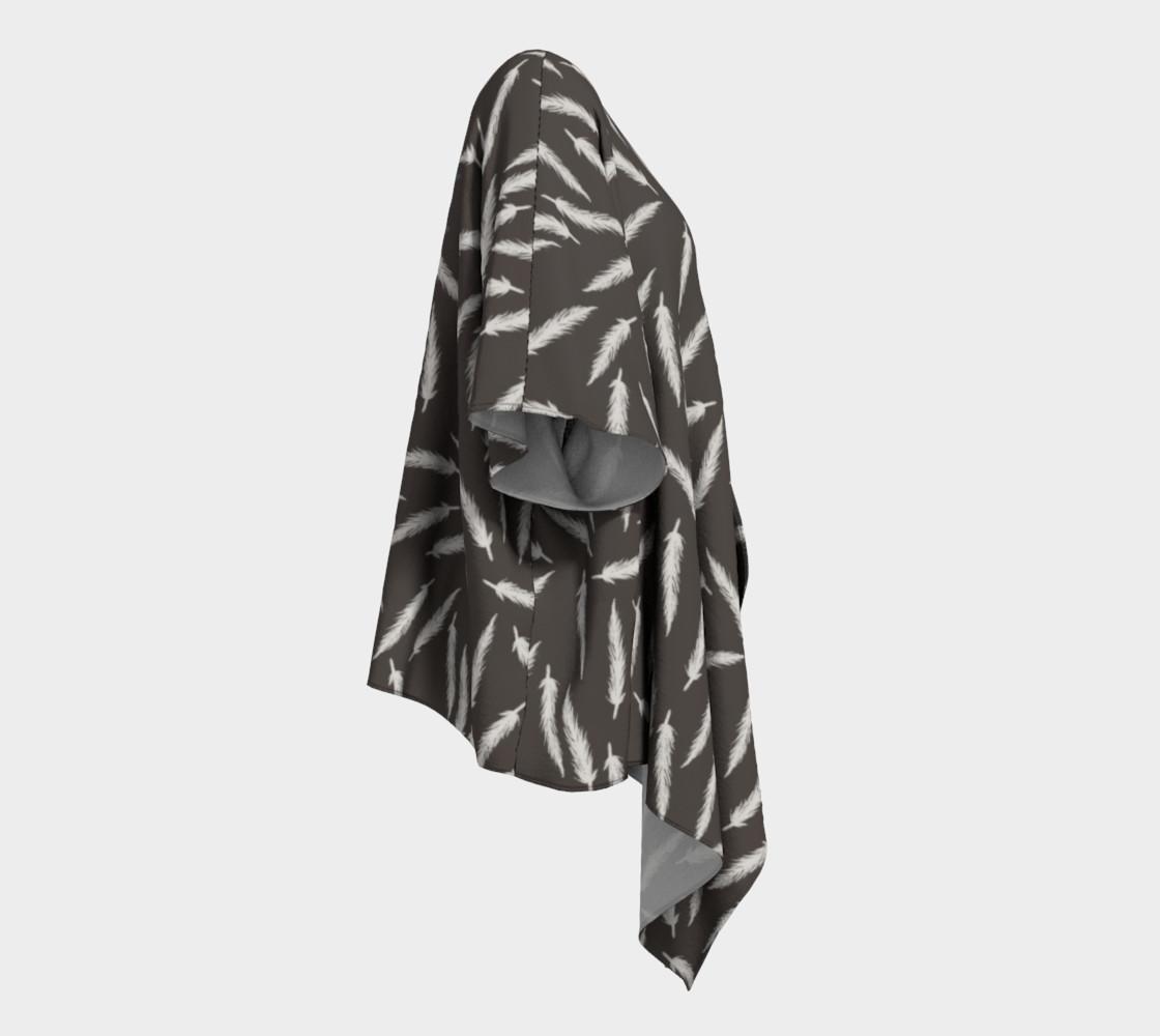Rebel Draped Kimono in Coal preview #3