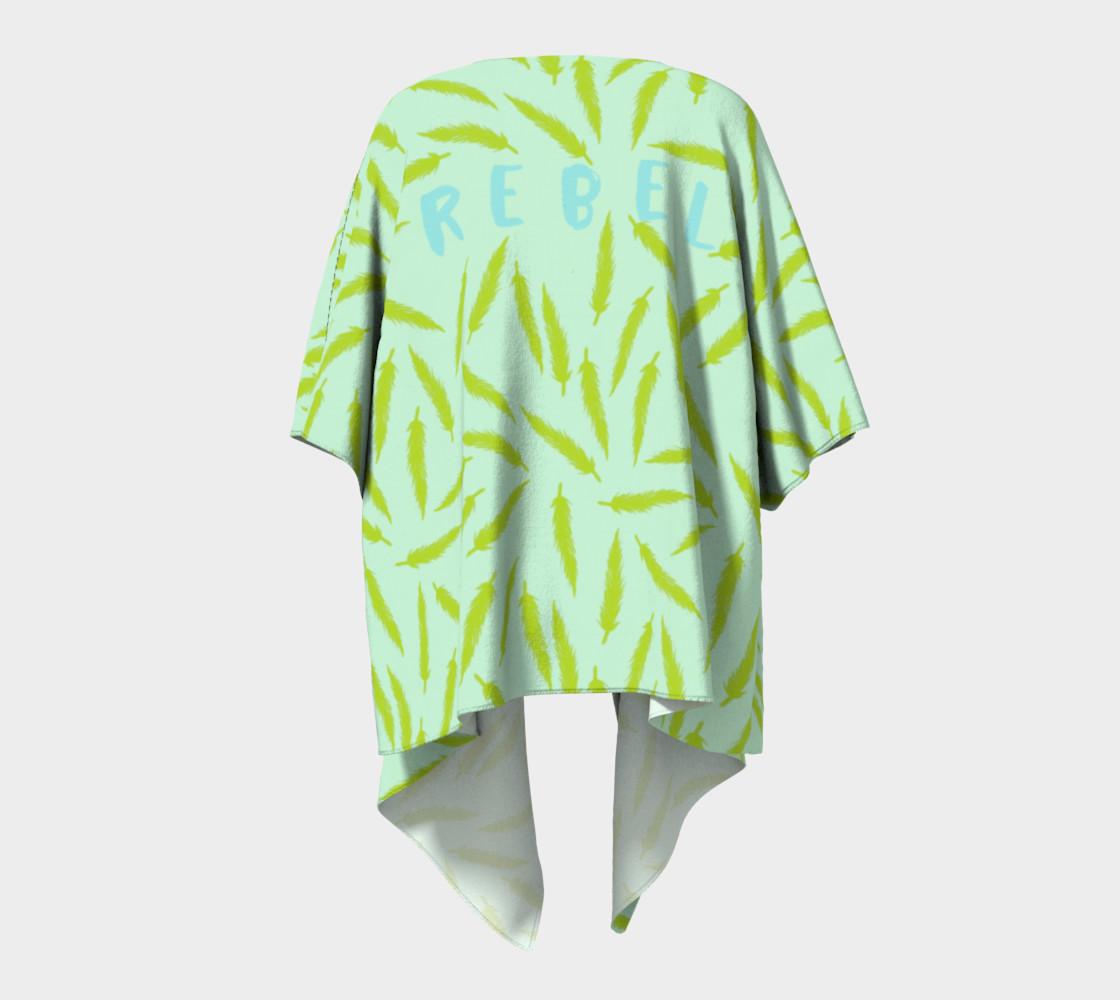 Rebel Draped Kimono in Mintish preview #4