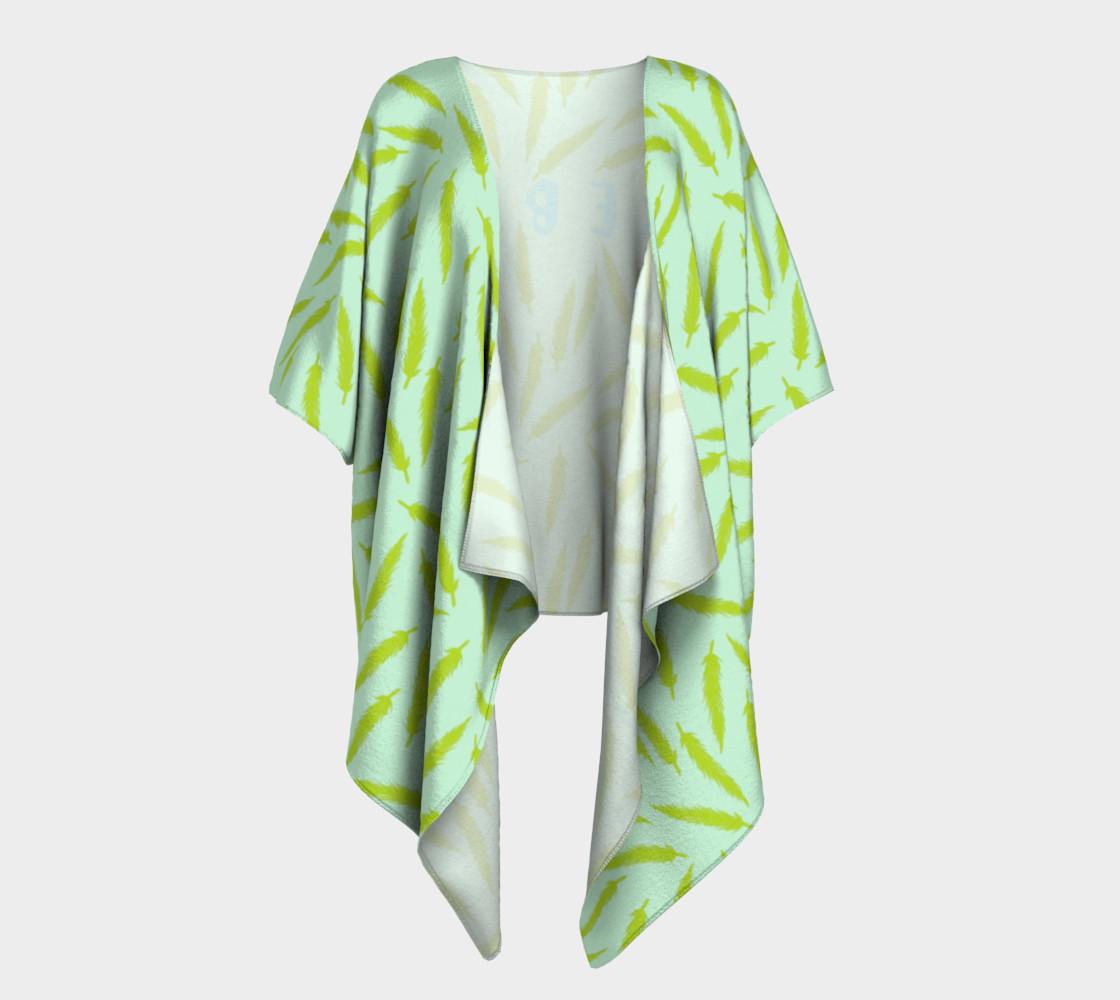 Rebel Draped Kimono in Mintish preview #1