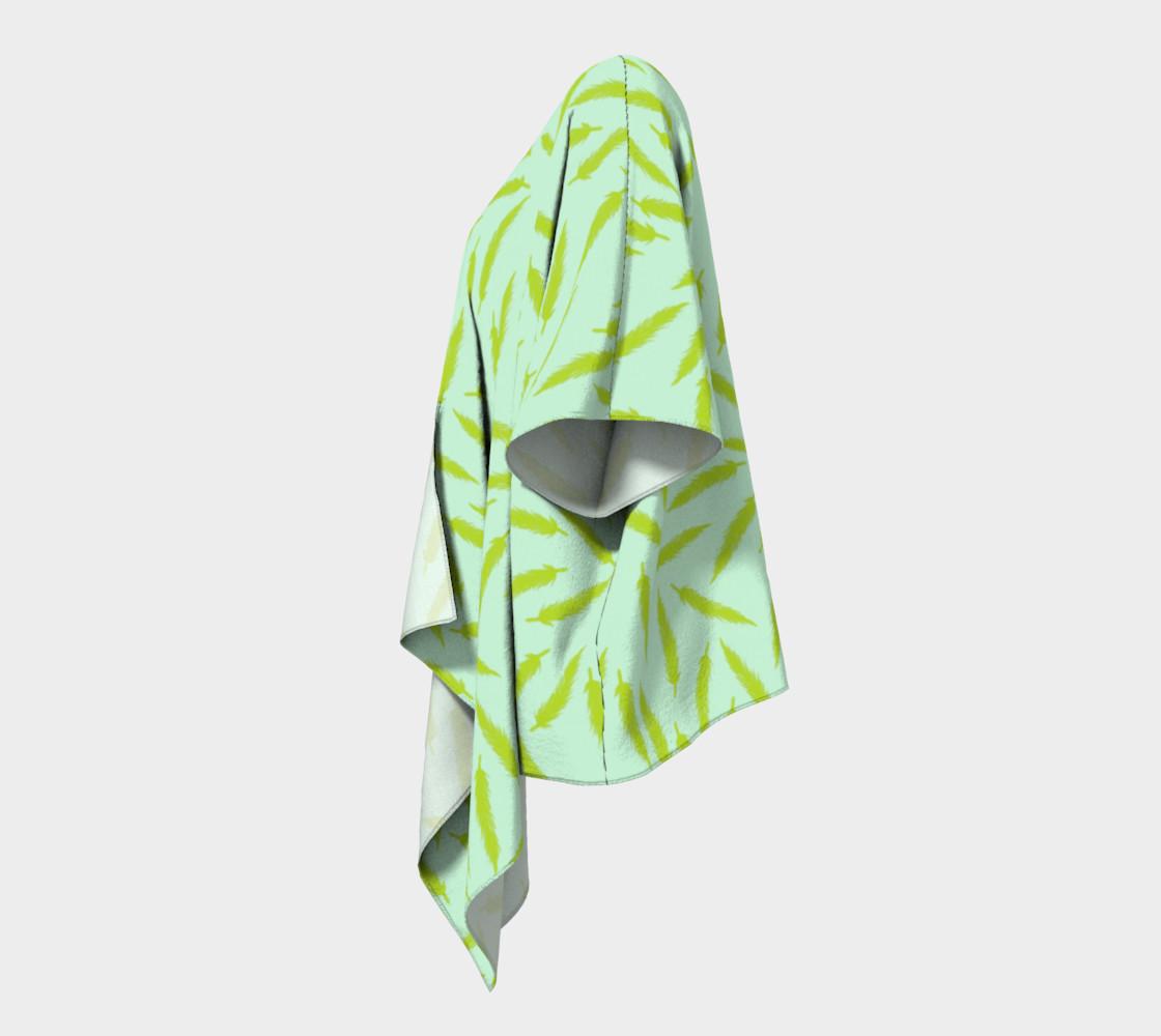 Rebel Draped Kimono in Mintish preview #2