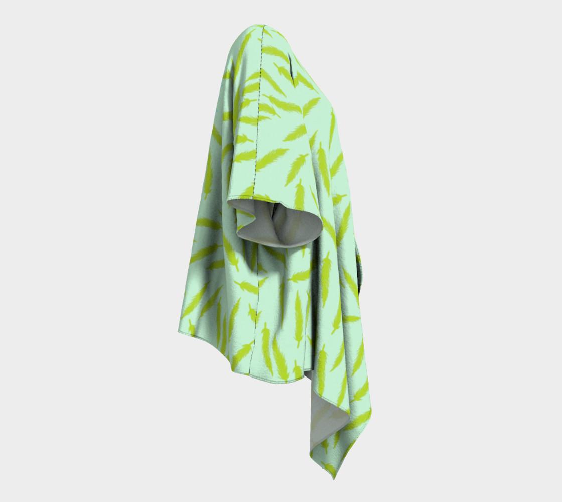 Rebel Draped Kimono in Mintish preview #3