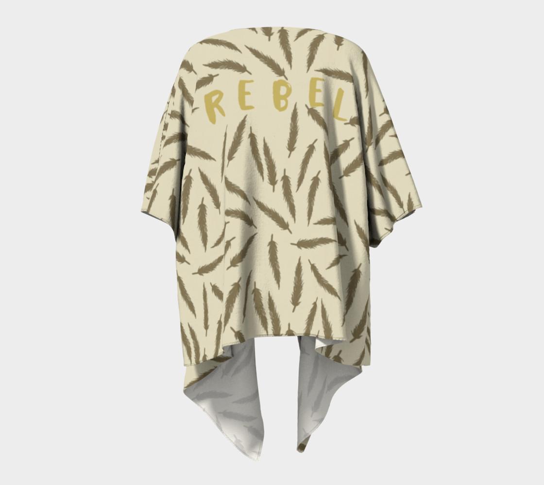 Rebel Draped Kimono in Two Sands preview #4