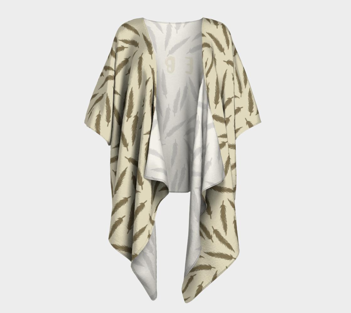 Rebel Draped Kimono in Two Sands preview #1