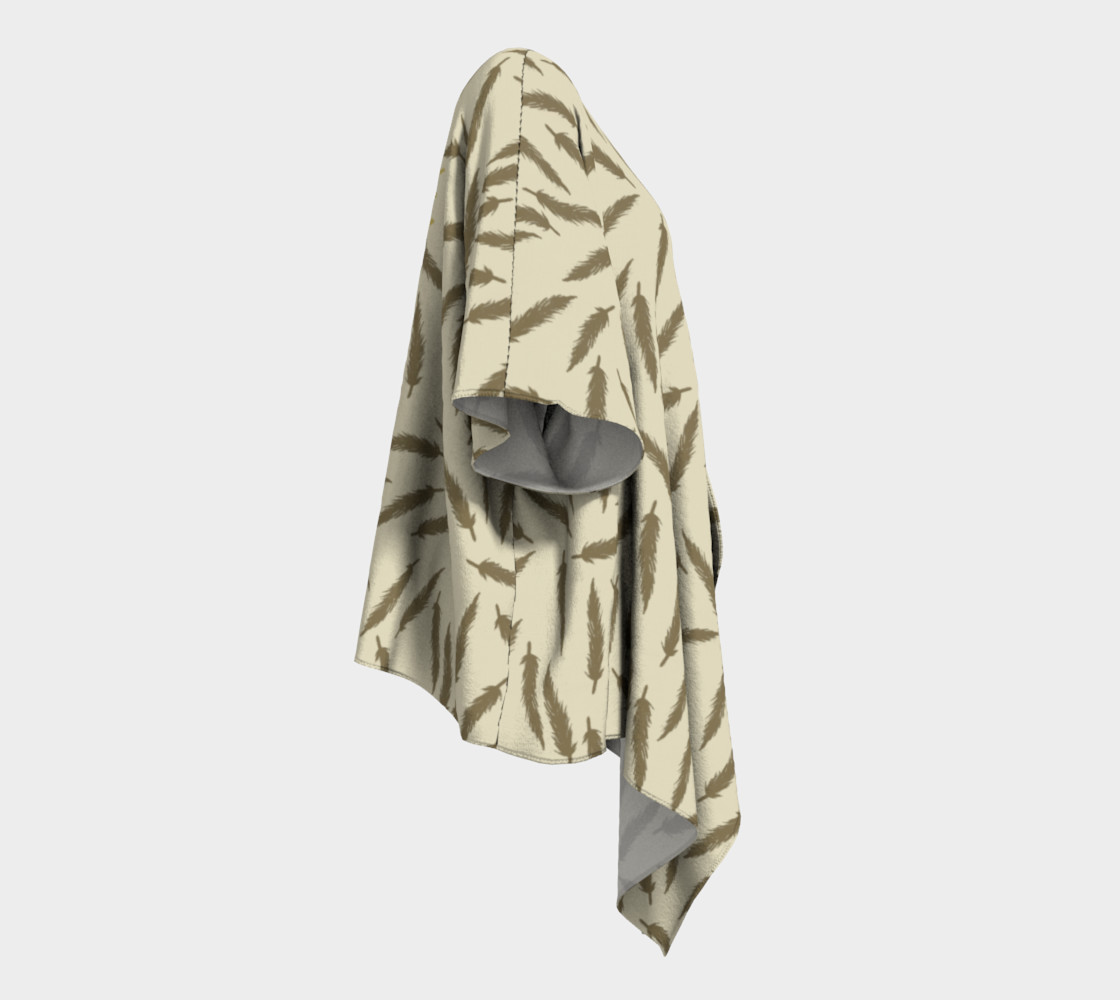 Rebel Draped Kimono in Two Sands preview #3