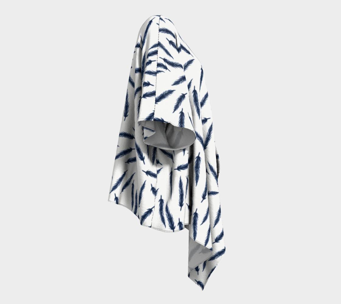Rebel Draped Kimono in White Navy preview #3