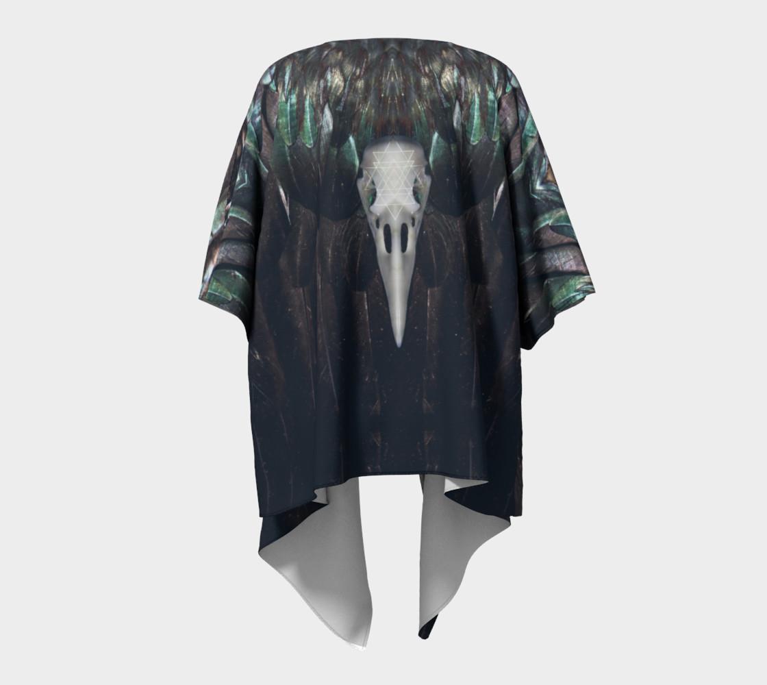 Raven Draped Kimono preview #4