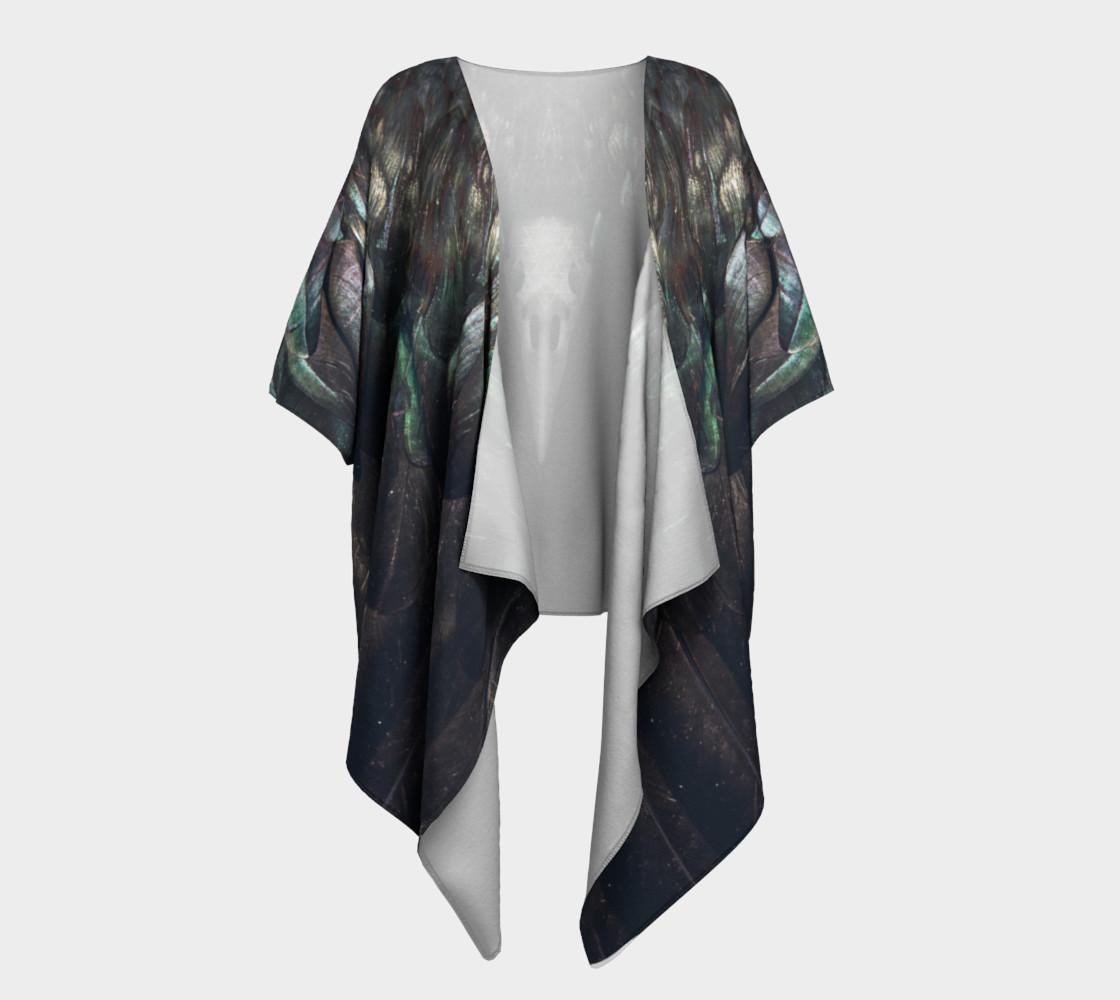 Raven Draped Kimono preview #1