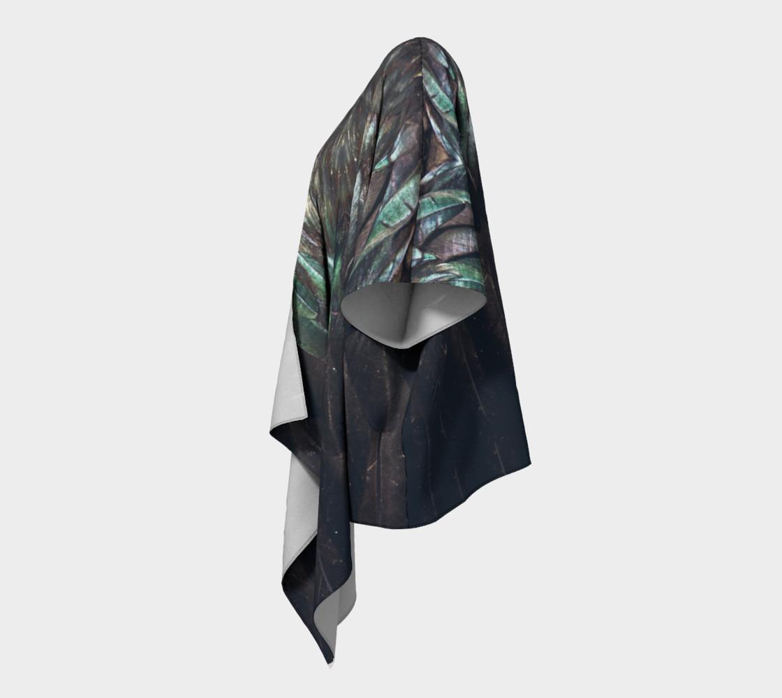 Raven Draped Kimono preview #2