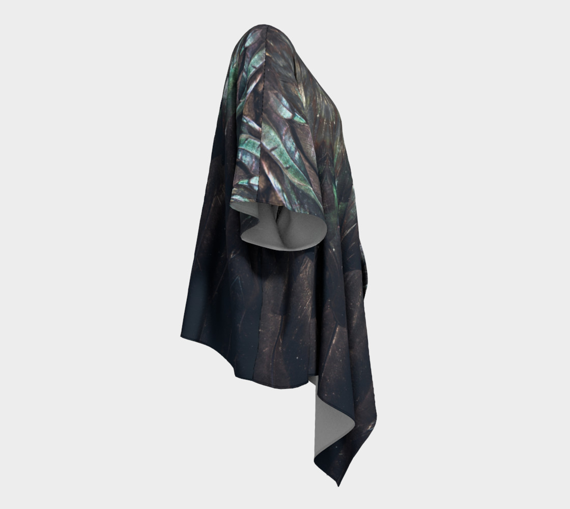 Raven Draped Kimono preview #3