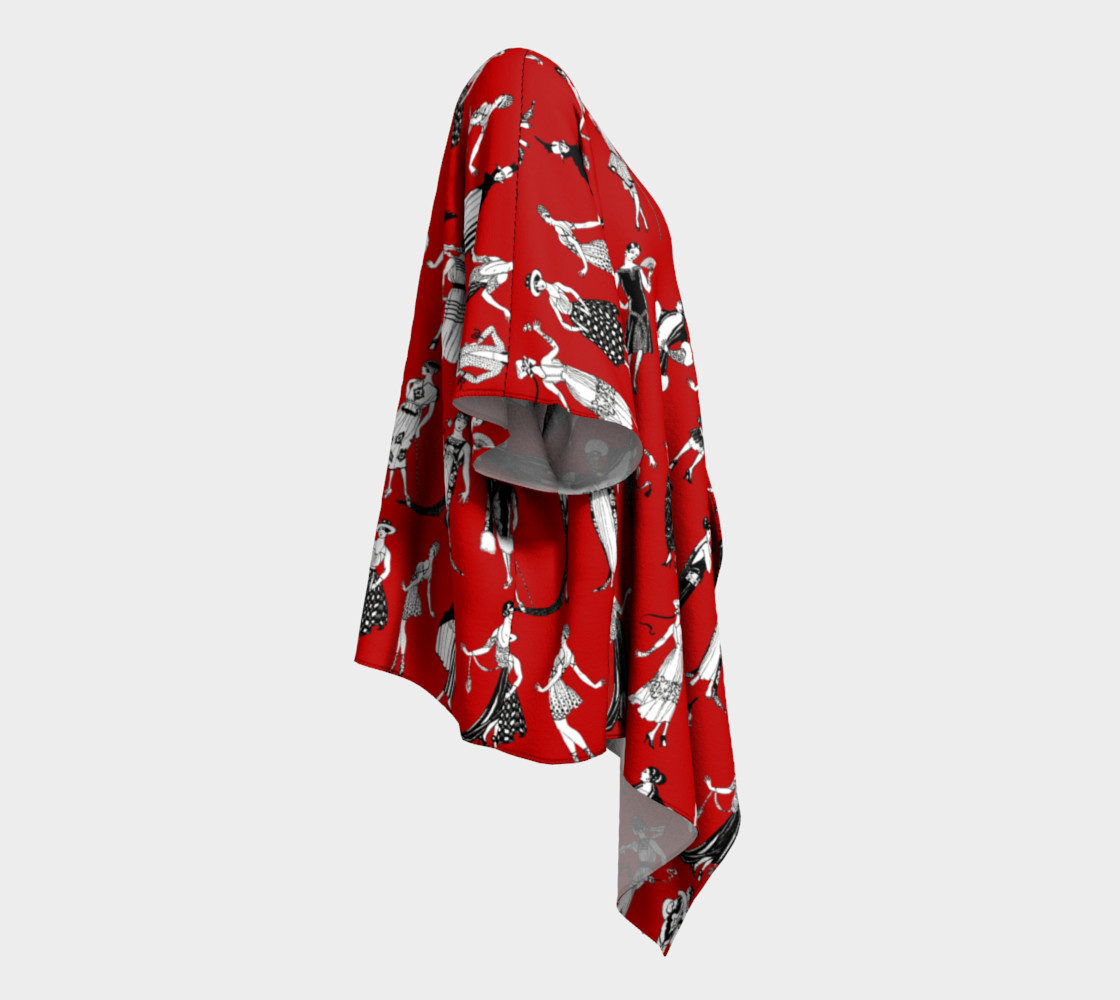 La Vie Parisienne Rouge - Draped Kimono preview #3