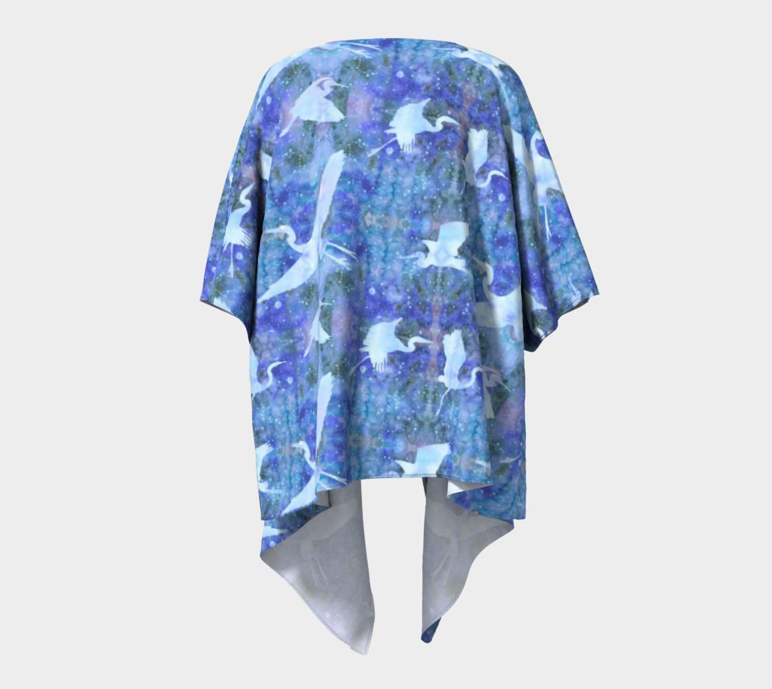 Aperçu de Starry Cranes - Draped Kimono #4